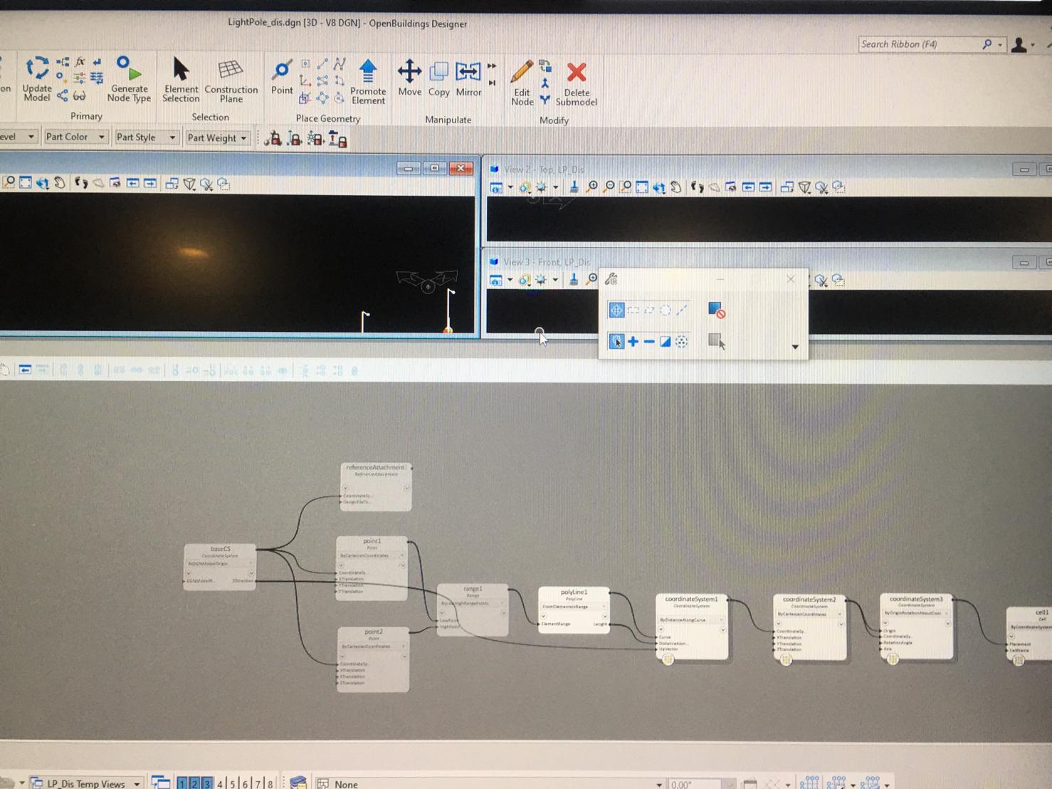 Generative design and nodes visualisation